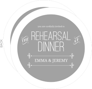Gray Whimsical Rehearsal Dinner