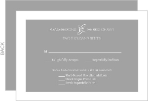 Gray Whimsical Response Card