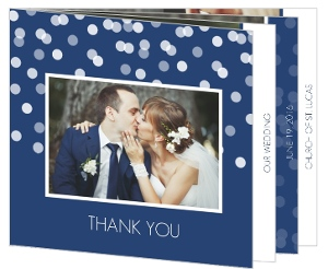 Blue Snowflake Thank You Card
