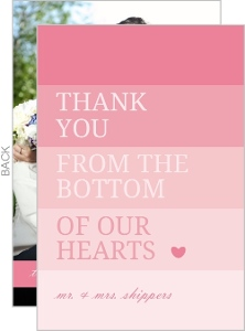 Pink Ombre Thank You Card
