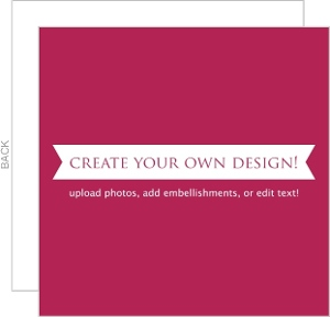 Create Your Own Card - Flat 5.25x5.25 Inches