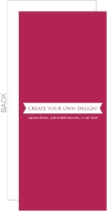 Create Your Own Card - Flat 3.75x8.75 Inches