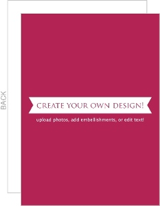 Create Your Own Card - Flat 5x7 Inches