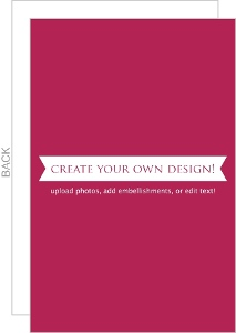 Create Your Own Card - Flat 5.5x8.5 Inches