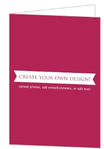 Create Your Own Card - Folded 5x7 Inches
