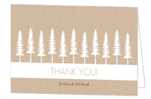 Rustic Pine Trees Thank You Card