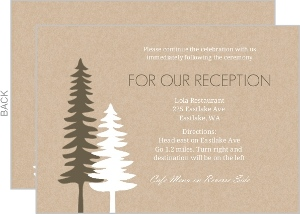 Rustic Pine Trees Enclosure Card