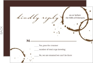 Brown Coffee Perfect Blend Response Card