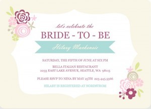 Pink Floral Frame Country Floral bridal shower invites by Wedding Paperie.
