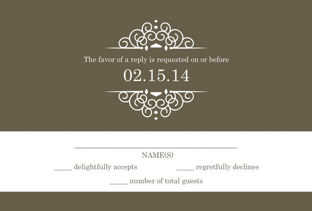 wedding RSVP wording