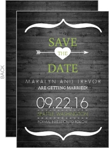 Modern Rustic Gray and White Tree Save The Date Card