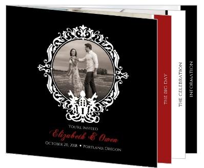 black and red skeleton key halloween wedding invitation halloween