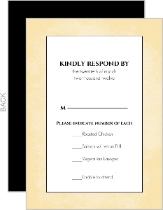 Black Rustic Antique Key Response Card