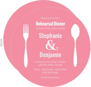Pink and White Contemporary Rehearsal Dinner