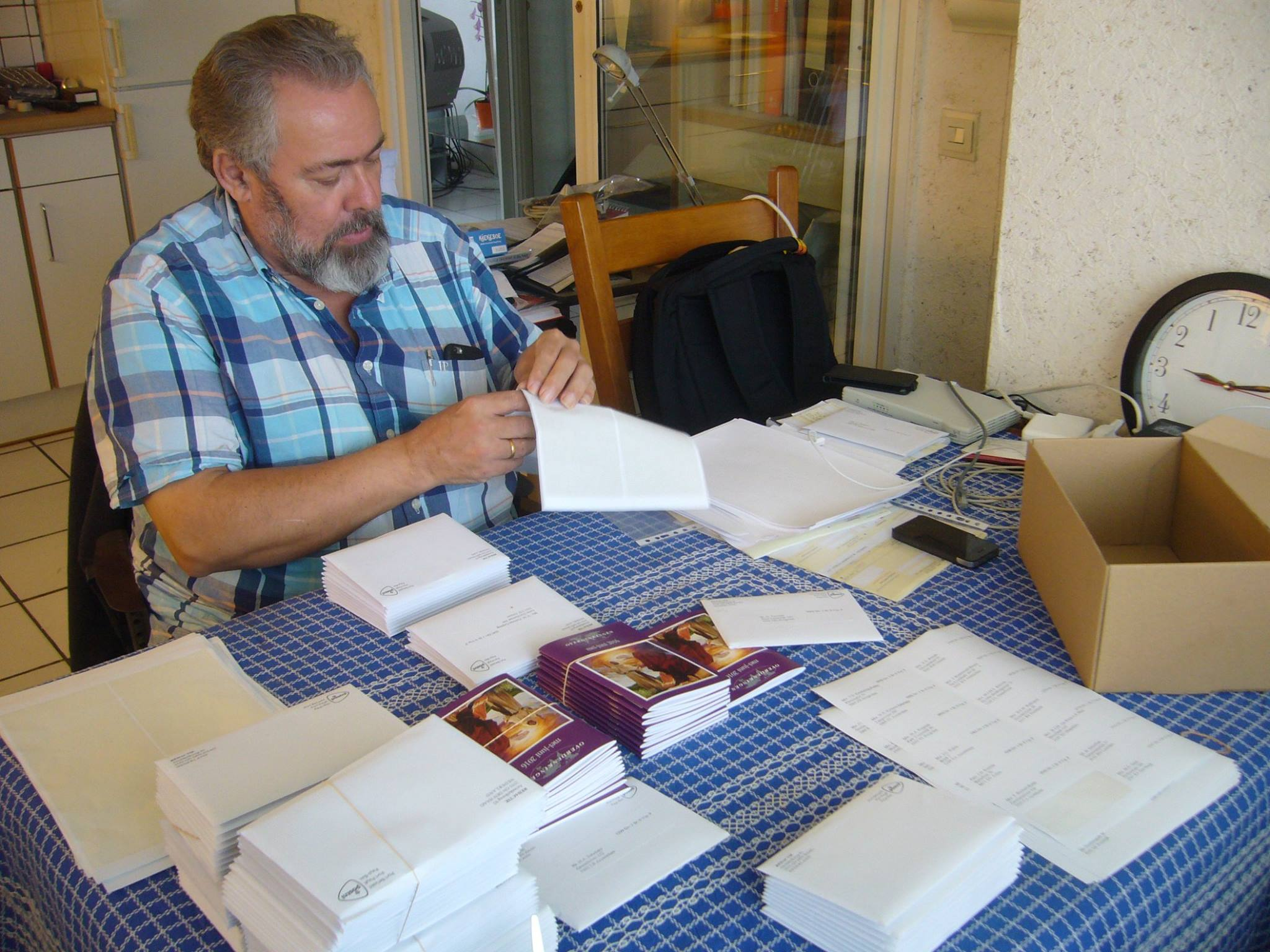 Jan Willem Preparing To Mail Copies Of Dutch Edition To Subscribers