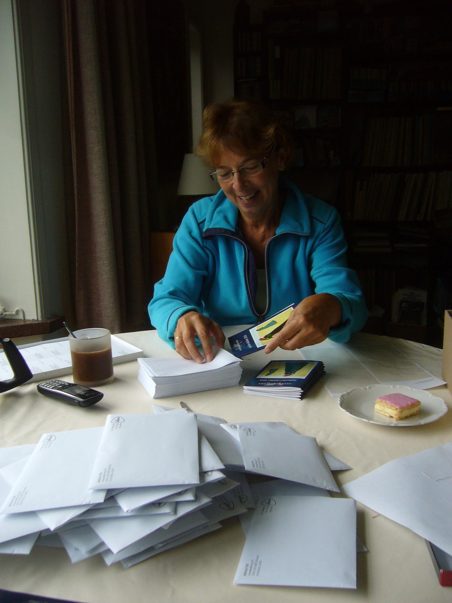Patricia Preparing To Mail Copies Of Dutch Edition To Subscribers2