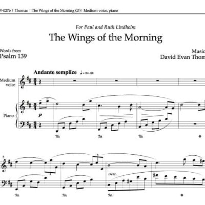 "of ""Wings of the Morning,"" Psalm 139 by David Evan Thomas"