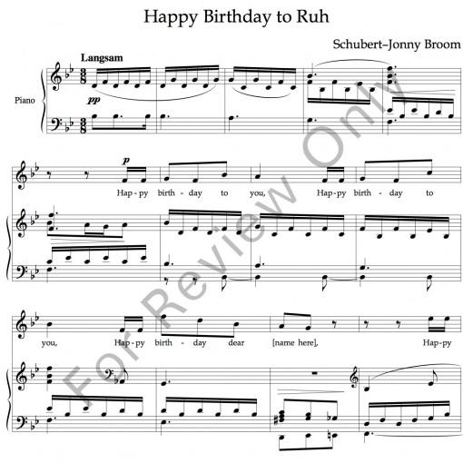 Happy Birthday Schubert image