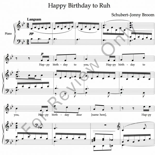 Happy Birthday Schubert image