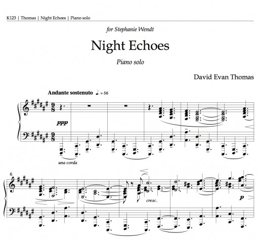 nocturne product image: 1st page of score