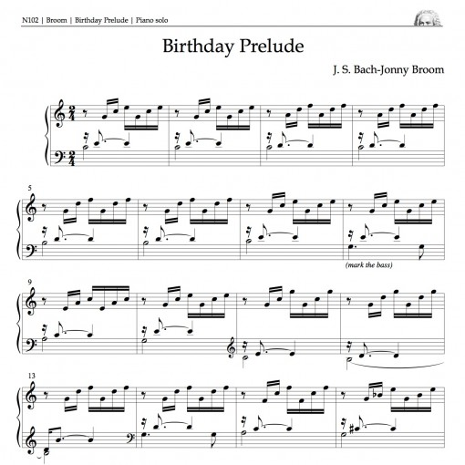 Opening bars of Birthday Prelude