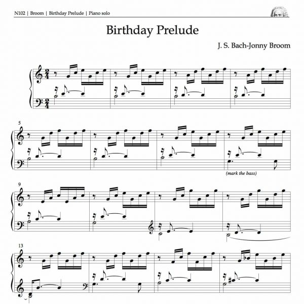 Opening bars of Birthday Prelude
