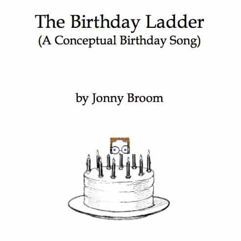 birthday song image boy behind birthday cake