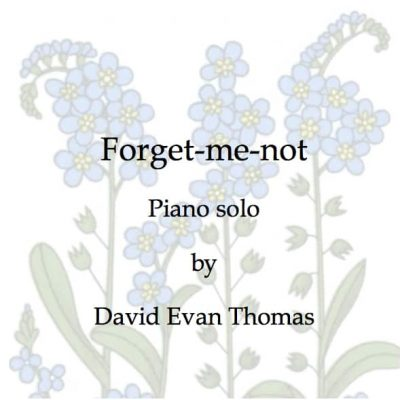 title page for wistful Forget-me-not