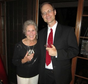 Thelma Hunter and DET at Thelma's 88th Birthday Party