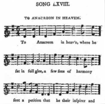 early publication of tune of national anthem