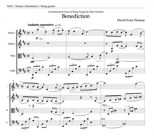 Product image for Benediction (string quartet)