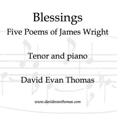 Product image for Blessings, song cycle for tenor