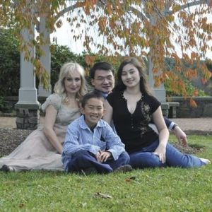 Christine Tsen and family, 2010