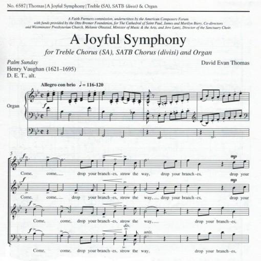 title page of palm sunday anthem