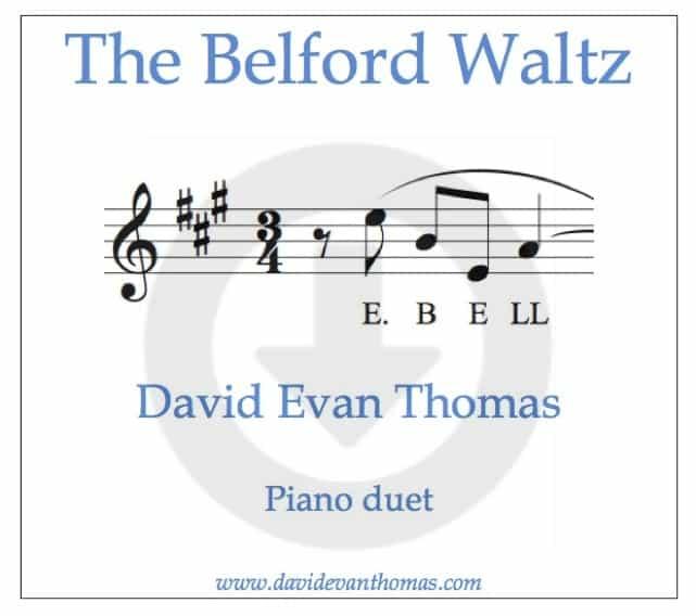 Belford Waltz duet download product image