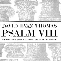 Text with Psalm VIII doric and corinthian columns