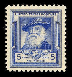stamp with Walt Whitman
