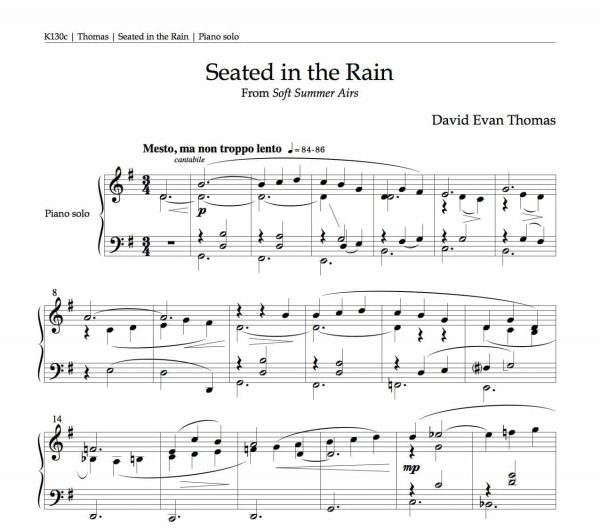 first page of Seated in the Rain