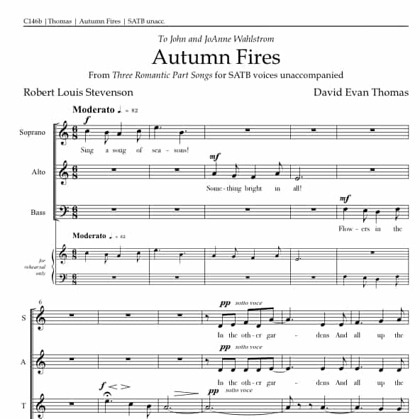 Autumn Fires part song product image