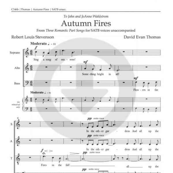 part song autumn fires product image