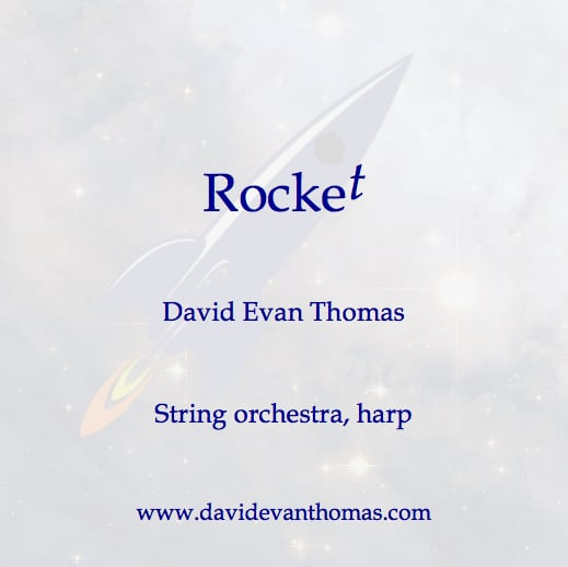 rocket flying into space product image for string orchestra piece