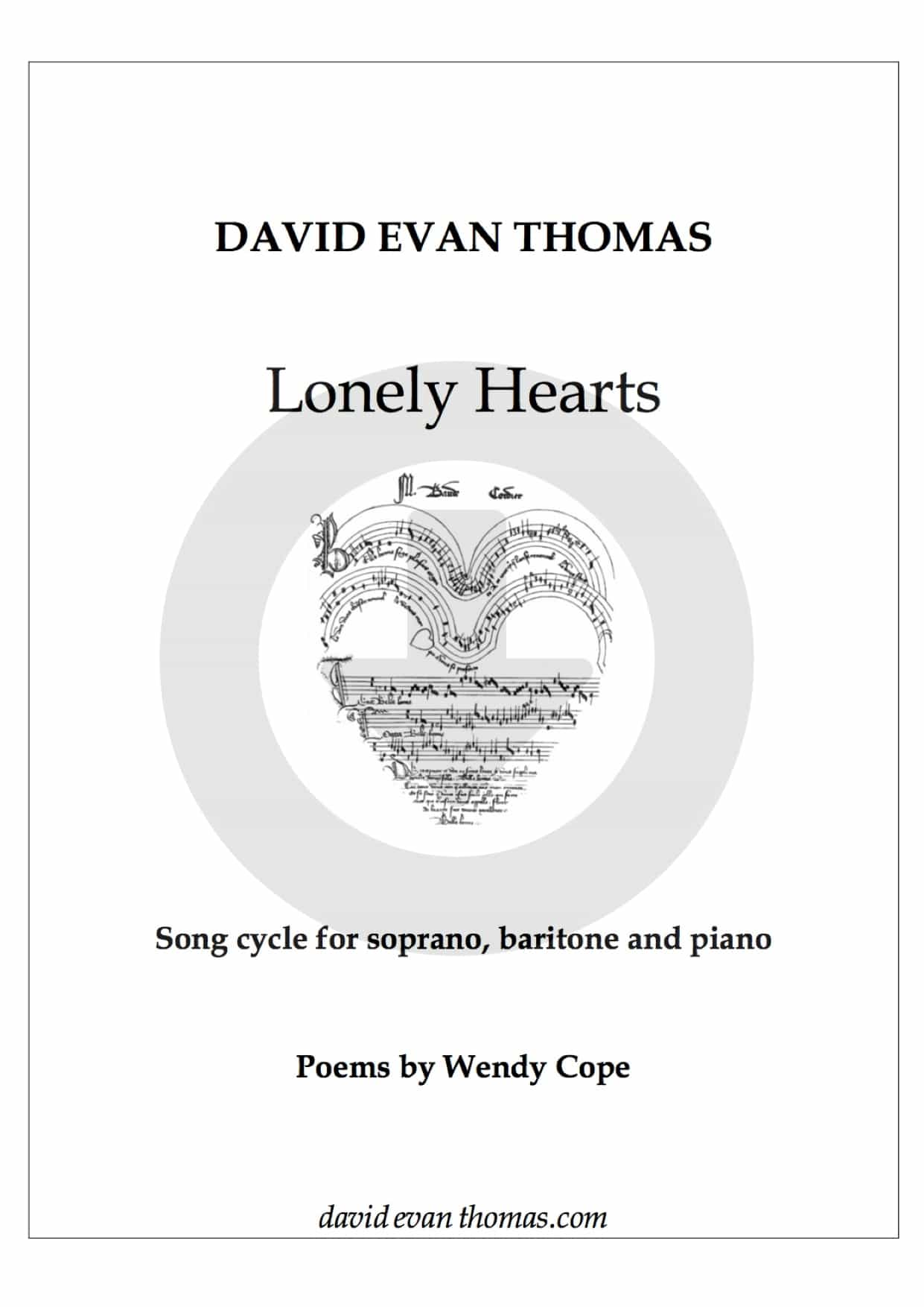 Lonely Hearts duo song cycle PDF for download