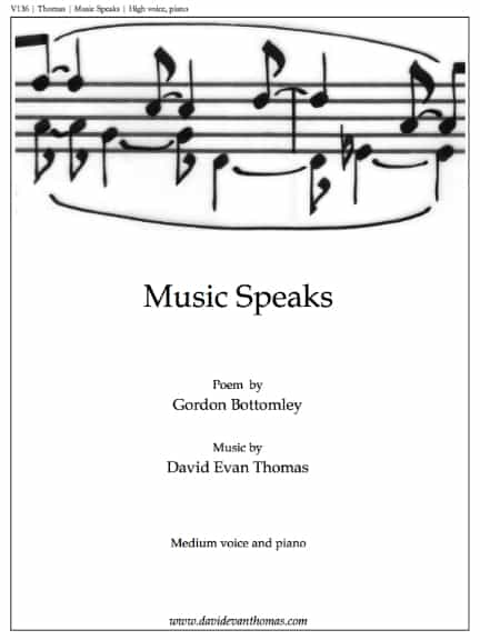 title page of song about power of music