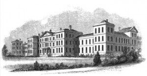 image for cycle for baritone: engraving of asylum