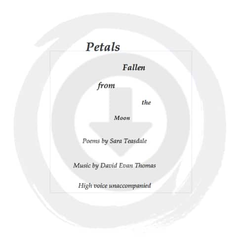 Text in a circle; solo voice product image