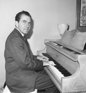 Nixon at the piano