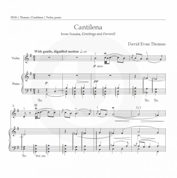 Cantilena download product image: first page of score