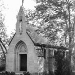 chapel in black and white
