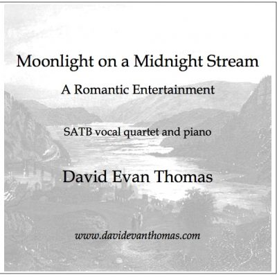 product image for vocal quartet and piano print of mountain river