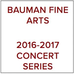 Bauman Fine Arts logo for baroque concert